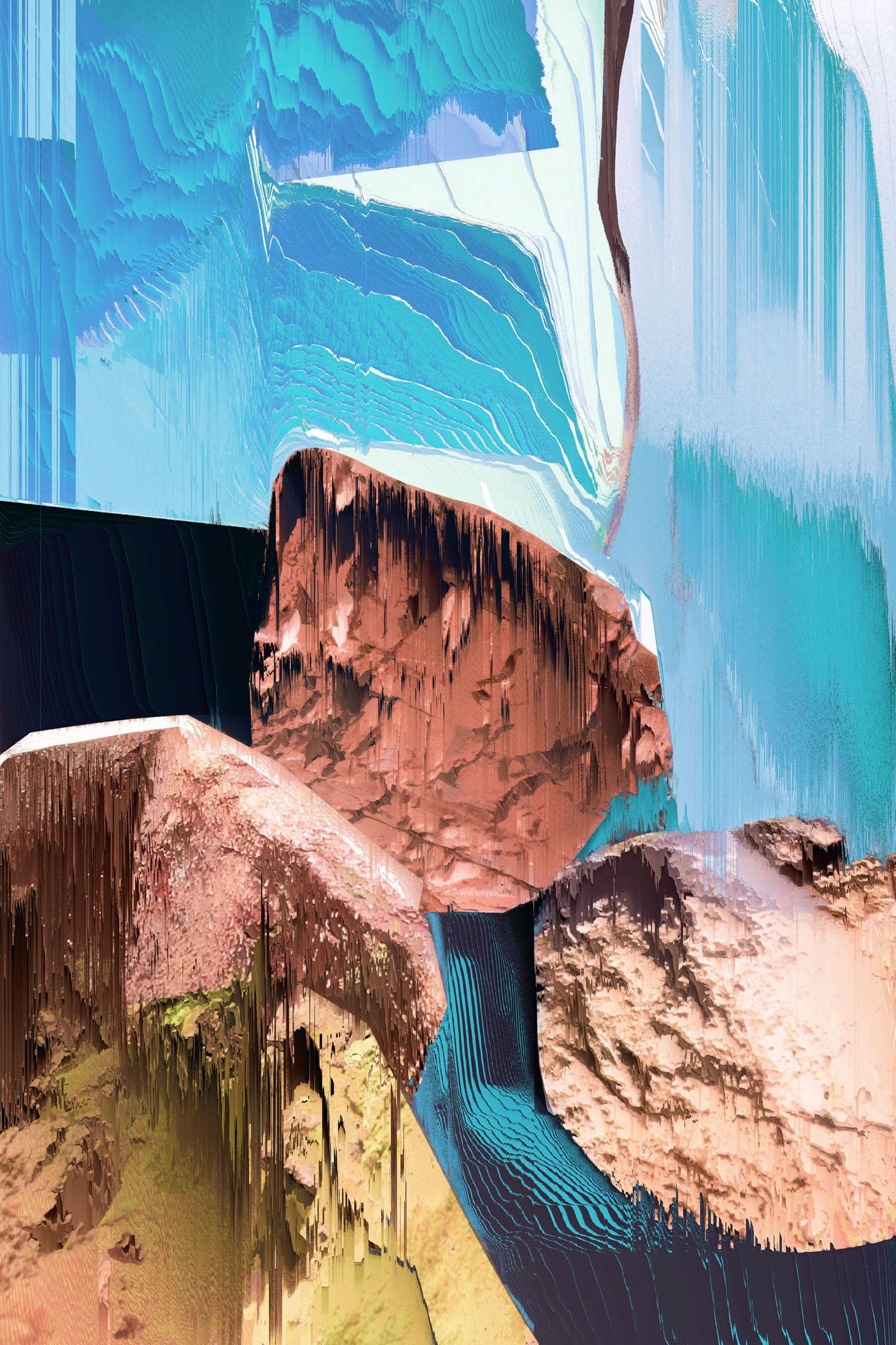 Ewa Doroszenko – Generated Island 07, obraz cyfrowy