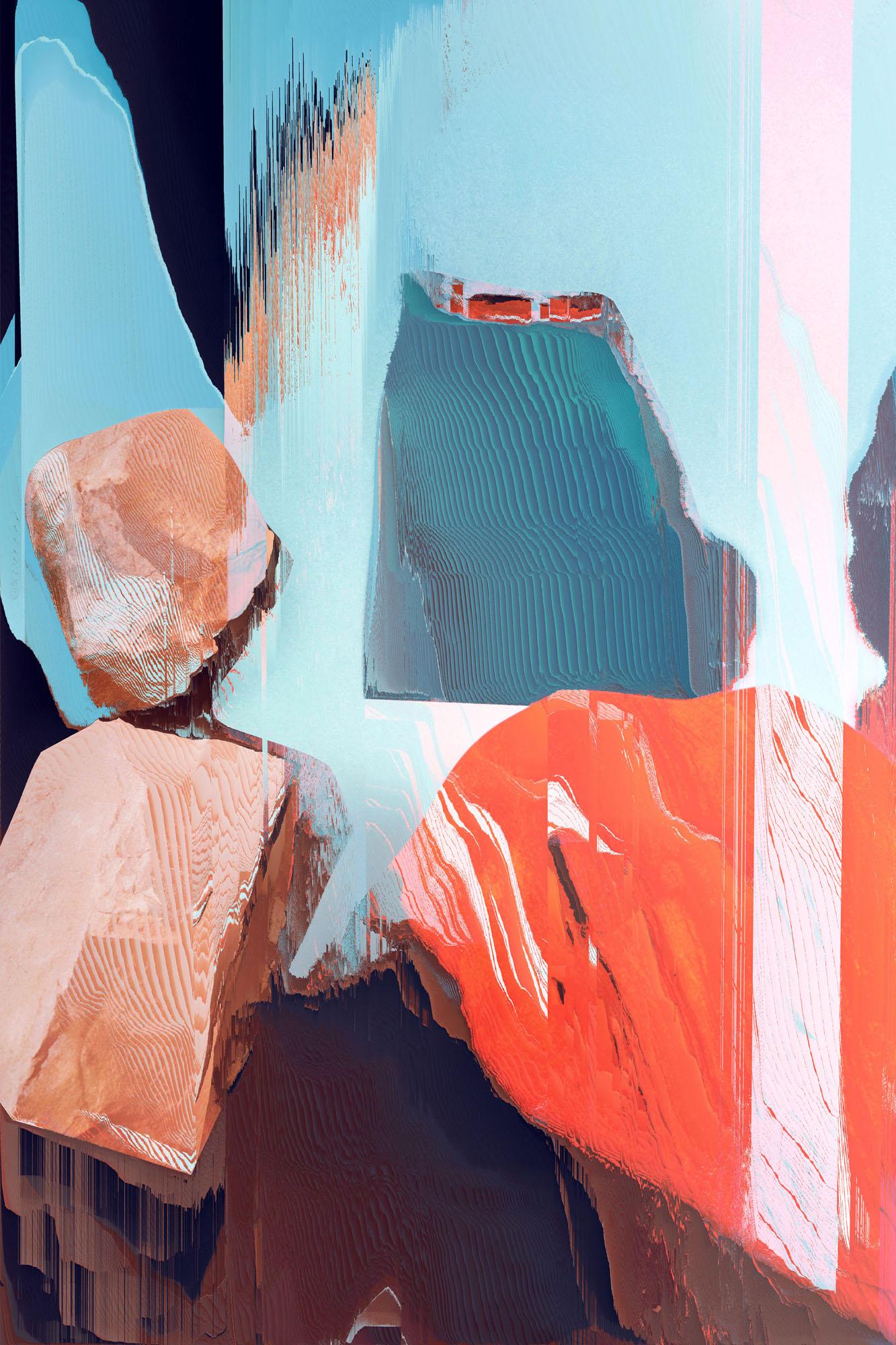 Ewa Doroszenko – Generated Island 14, cyfrowe malarstwo