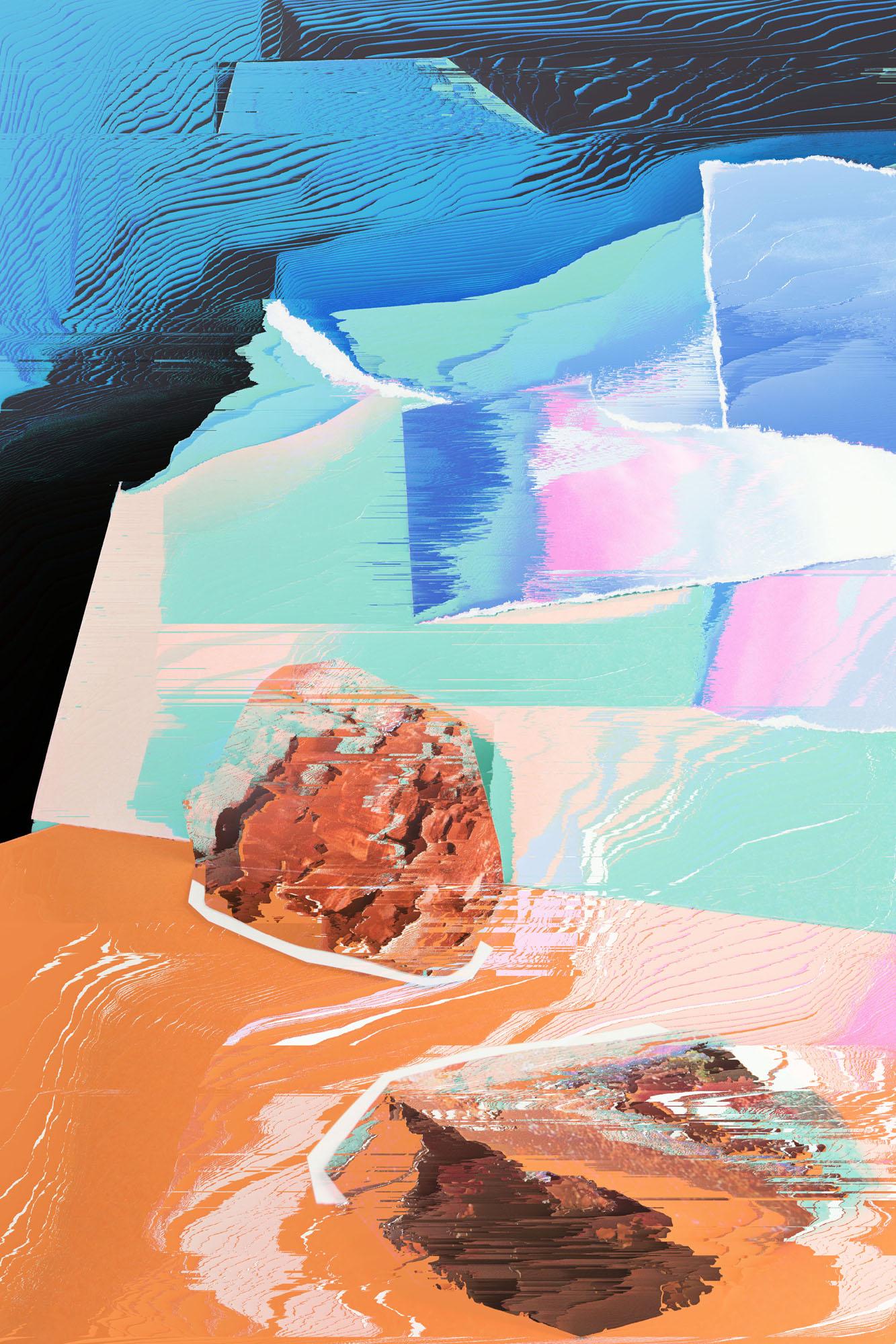 Ewa Doroszenko – Generated Island 15, cyfrowe malarstwo