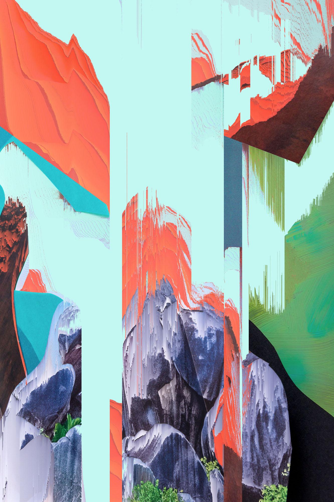 Ewa Doroszenko – Generated Island 18, cyfrowe malarstwo