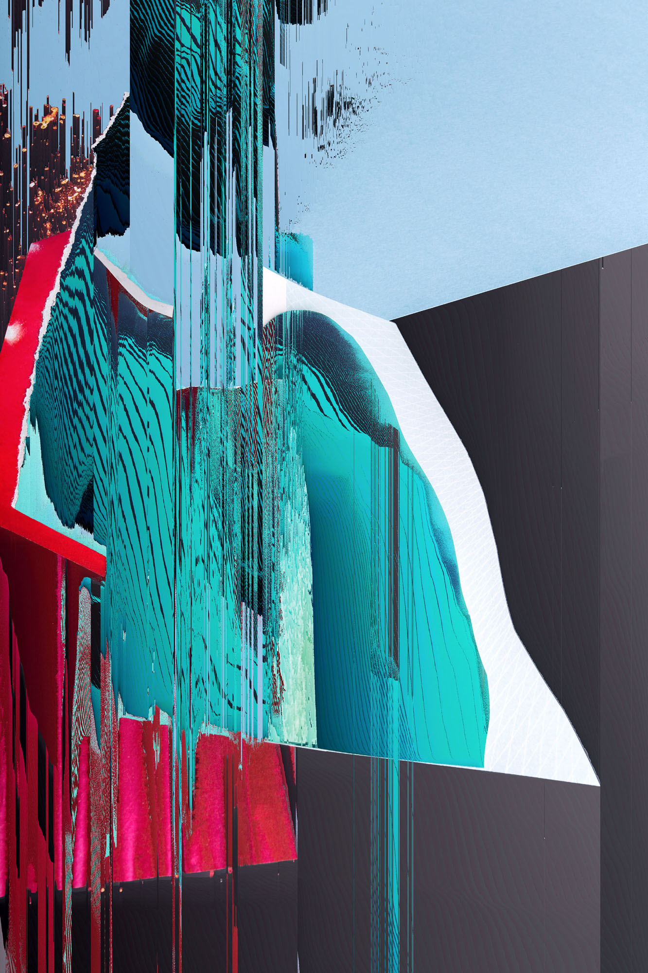 Ewa Doroszenko – Generated Island 19, cyfrowe malarstwo