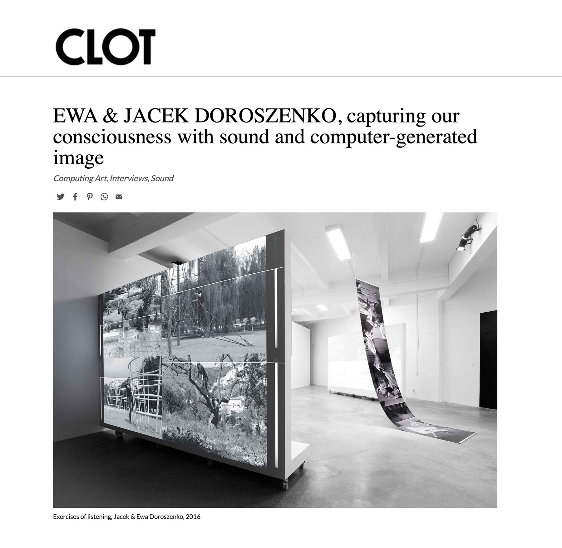 Ewa Doroszenko – Clot magazine, interview