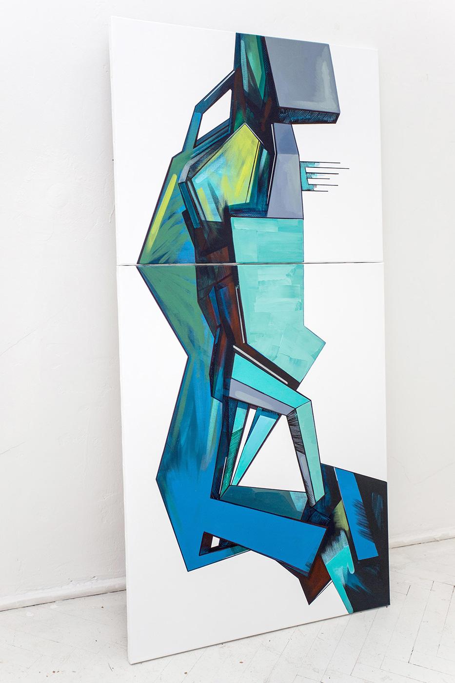 Ewa Doroszenko – obraz, olej i akryl na płótnie 13