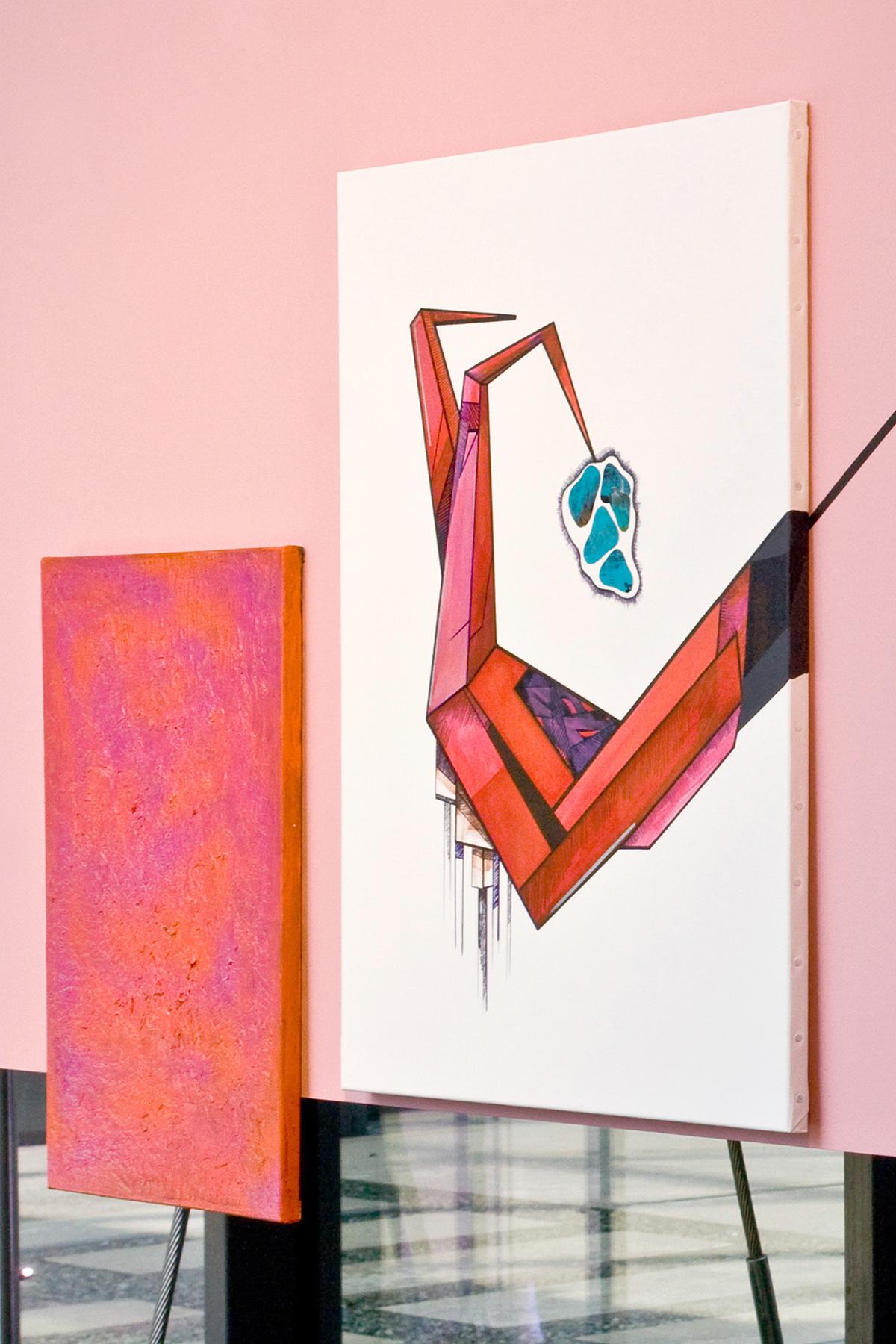Ewa Doroszenko - Future sex based on Parade amoureuse by Francis Picabia - painting installation